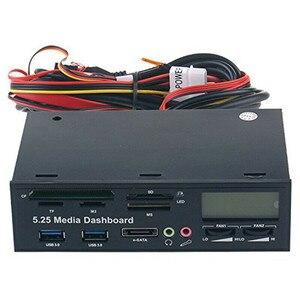 Image 5 - PYMH 5.25 인치 USB 3.0 PC 전면 패널 미디어 대시 보드 카드 리더 허브 SATA PCIE PCE E