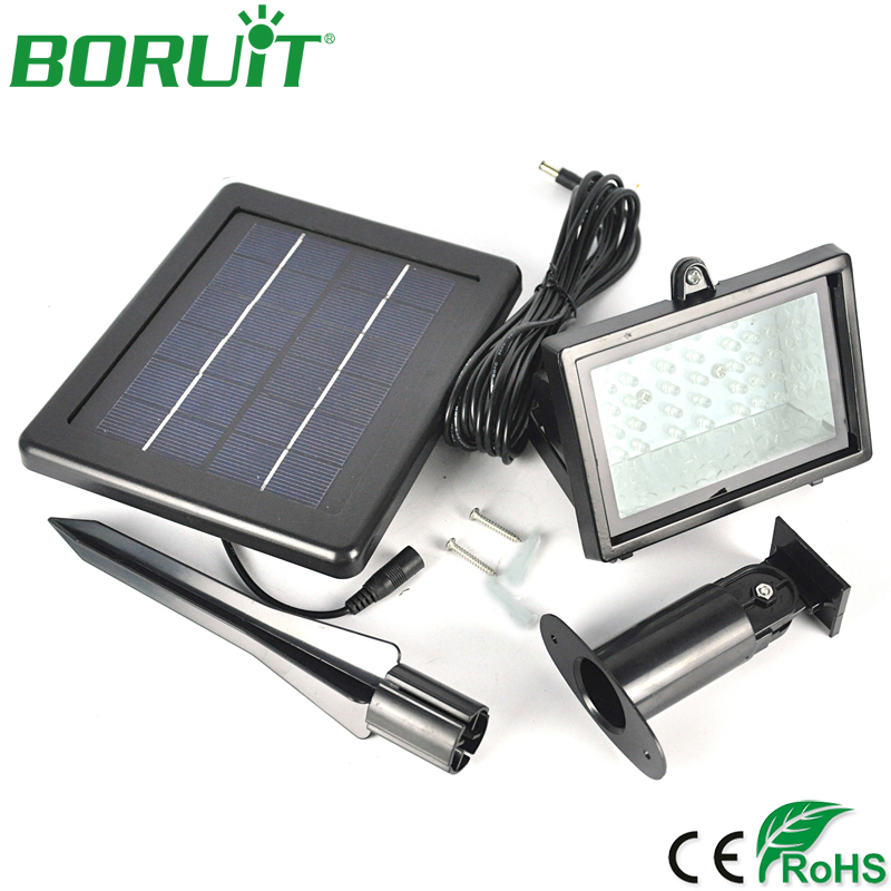 BORUiT 45 LED Solar Flood Lamp Light Waterproof Garden Porch Path Lighting Porch Lamp Solar Sensor