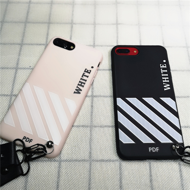 newest 59258 6c778 US $2.99 |luxury PDF White Case For iPhone 8 7 6 6S Plus X XS Max XR Case  fashion off ow Soft TPU Silicone Back Phone Cover Coque Funda-in Fitted ...