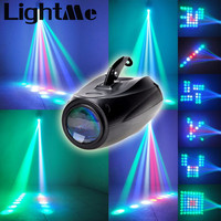 AC 90 240V 10W 64 LEDs RGBW Pattern Stage Light Auto Voice Activated Projector Lighting Perfect