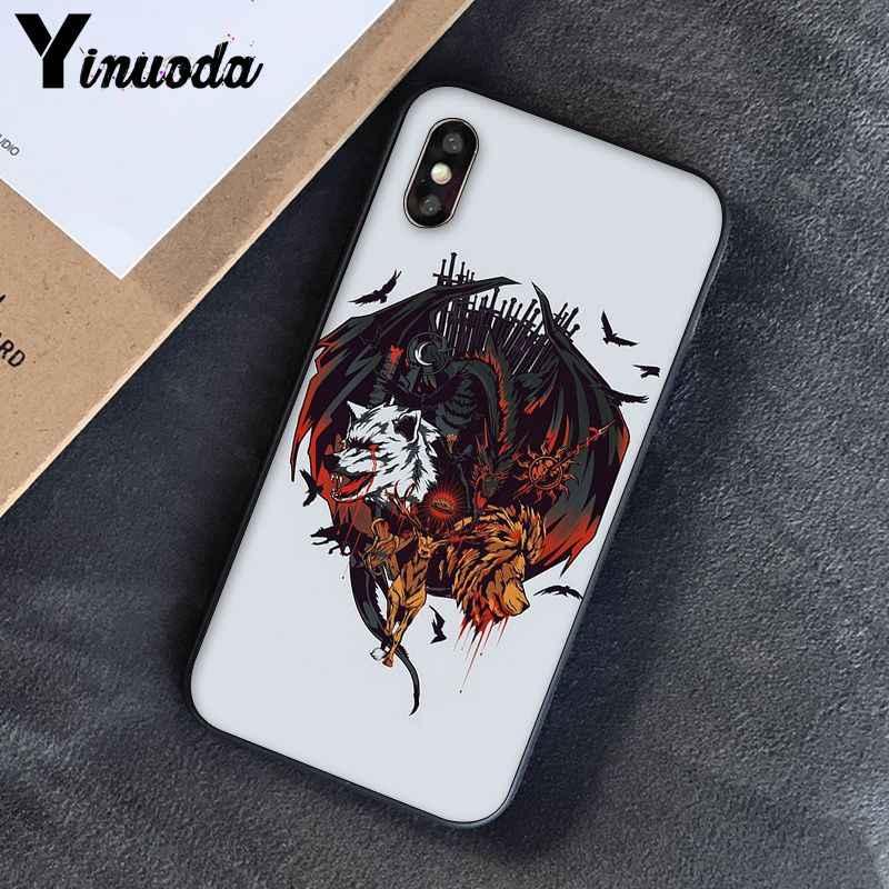 Yinuoda Juego de tronos casa Stark DIY pintado hermoso teléfono caso 8 para el iPhone de Apple 7 6 6S Plus X XS MAX 5 5S SE XR cubierta