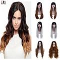 5PCS/lot wholesale Long  Kanekalon Ombre Hair Wigs  Free Gift Cap U Part Wig Natural Heat Resistant 2 Tones