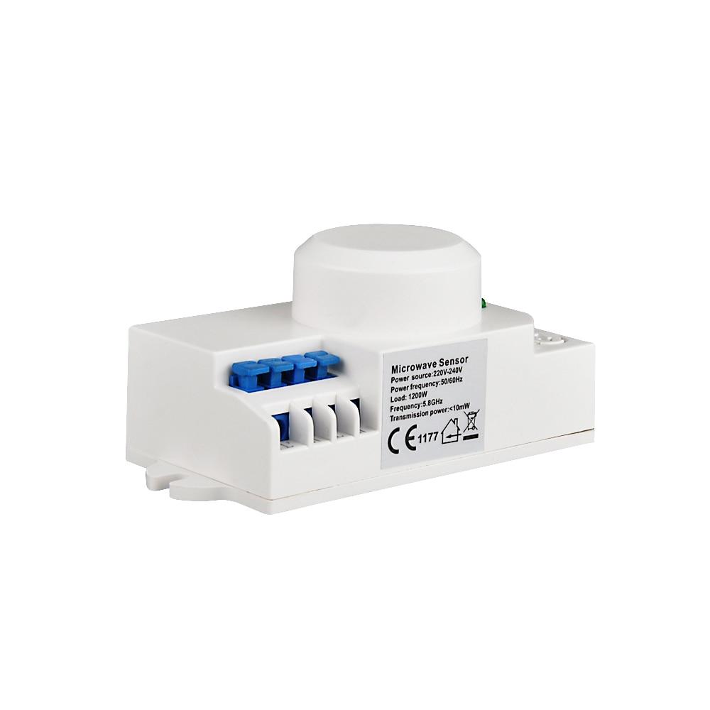 Etouch AC220-240V 5,8 GHz 360 Grad Zeit Einstellung Mikrowelle Sensor Radar Körper Sensor Motion HF Detektor Licht Schalter 10 stücke