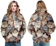 Карманными скейтбординга котенок кошки пуловер harajuku досуг толстовка свободные толстовки печати