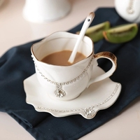 Coffee cup saucer creative pottery afternoon tea black tea