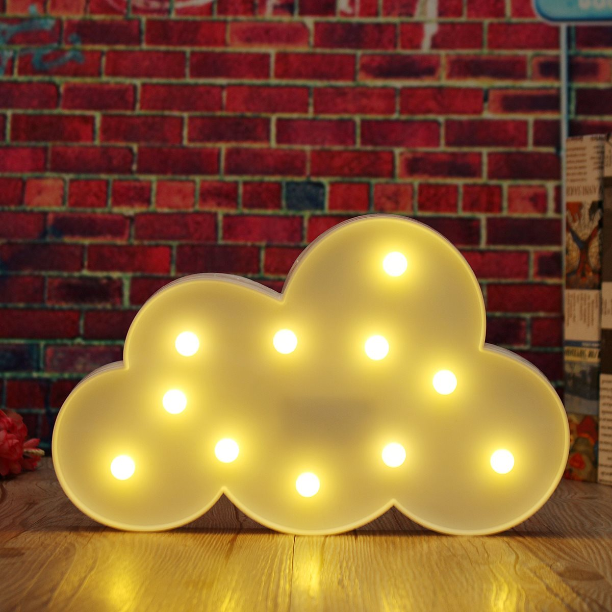 Cute Cloud LED Light Night Wall Lamp Kids Children Birthday Gifts ...