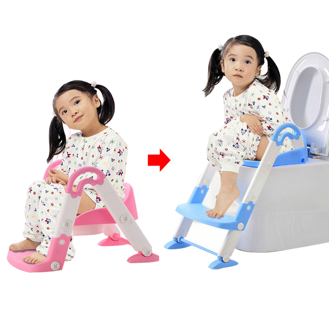 Baby Potty Seat With Ladder Children Toilet Seat Cover Kids Toilet Folding Infant Potty Chair Training Urinal Portable