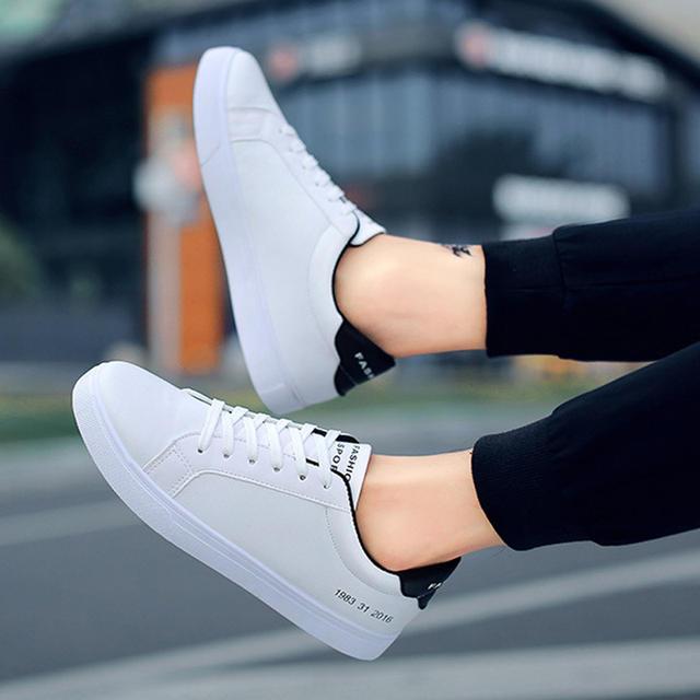 2019 Spring White Shoes Men Casual Shoes Male Sneakers Cool Street Men Shoes Brand Man Footwear KA793