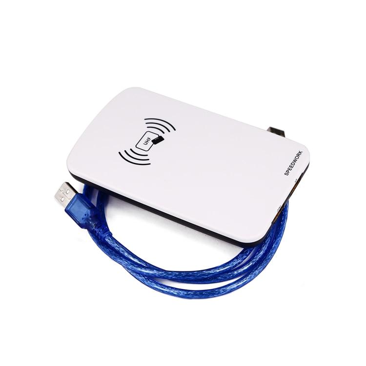 EPC et ISO 18000-63 lecteur de carte Gen2 compatible lecteur USB RFID prise en charge IMPINJ Monza, R6 et Alien H3 ou H4 carte série et étiquette