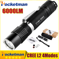 6000 Lumens Mini Tactical Led Torch CREE L2 Penlight Torch Light Powerful LED Flashlight Tactical Zaklamp