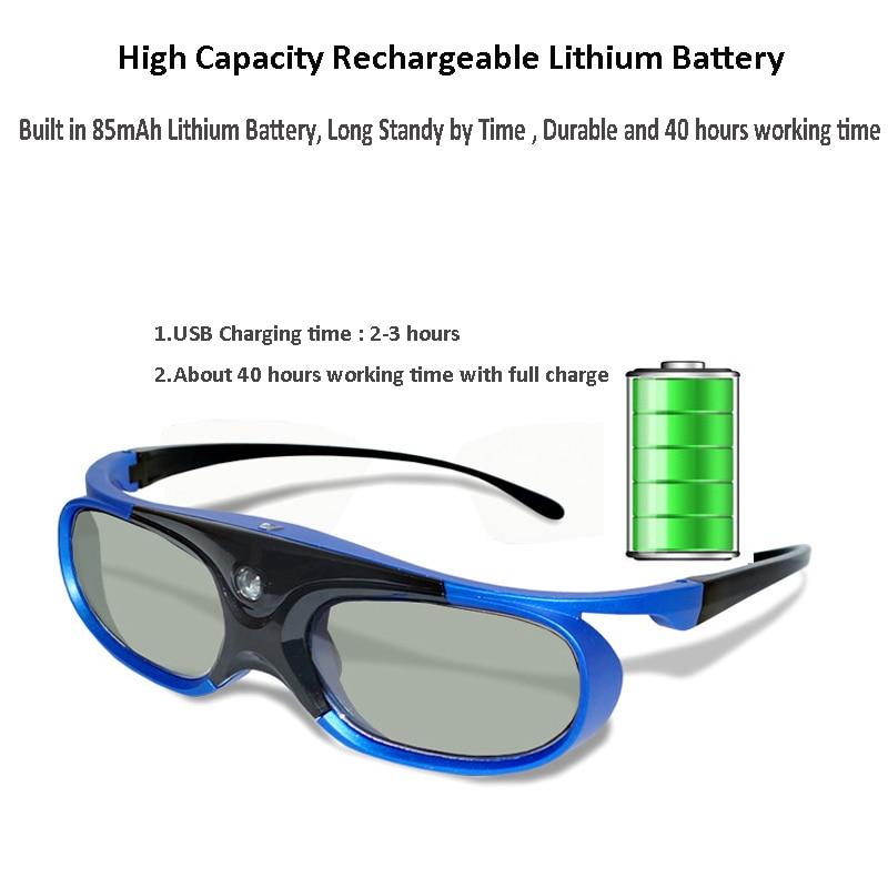 Активный затвор перезаряжаемые 3D очки поддержка 96/120/144 Гц для Xgimi Z3/Z4/Z6/H1/H2 гаек G1/P2 BenQ Acer & DLP LINK проектор