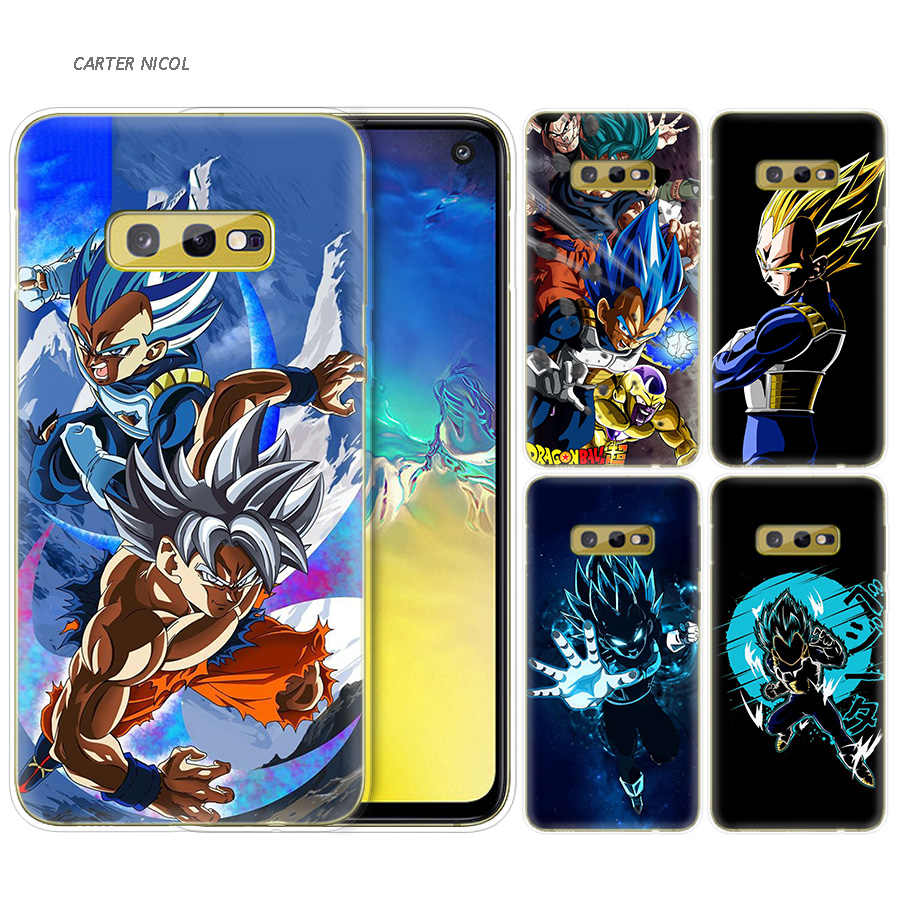 Silicone Case for Samsung Galaxy S10 S10e S8 S9 J4 J6 A6 A8 Plus 5G M30 M20 M10 A50 A30 A10 Cover Dragon Ball Vegeta Manga