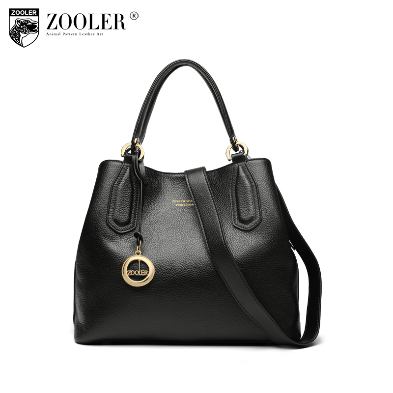 Genuine leather bag ZOOLER for women luxury handbags women bags designer shoulder bags bolsos mujer de marca famosa 2018 H128 women pu leather handbags fashion women s top leather pure color shoulder with bag handbag bolsos mujer de marca famosa 2018