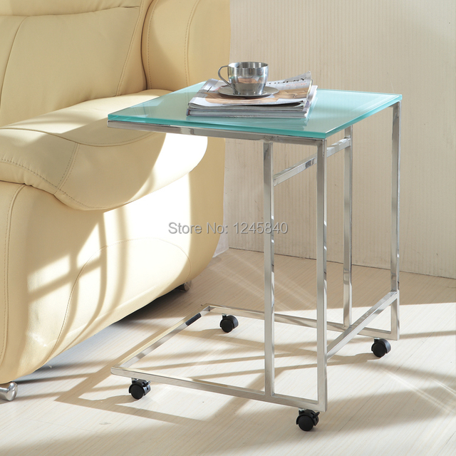 YT 033 Low Price High Quality Stainless Steel Toughened Glass Side Table  Coffee Table With Part 90