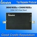 Lintratek 900 1800 Booster 65dB Gain GSM repetidor 900 1800 DCS doble banda amplificador de señal Mini tamaño AGC señal de doble banda amplificador
