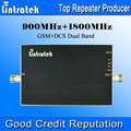 Lintratek 900 1800 de 65dB ganho GSM repetidor 900 1800 DCS dupla sinal de banda Mini tamanho AGC amplificador de sinal de banda dupla
