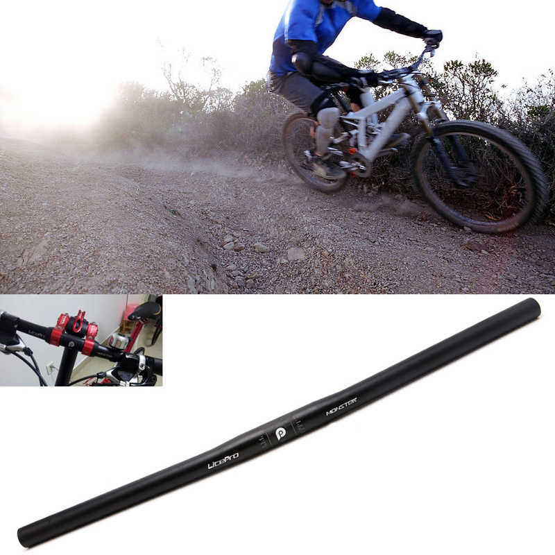 1x Durable Bike 25.4*600mm Handlebar AL Bicycle Flat//Riser Bar Straight//Swallow