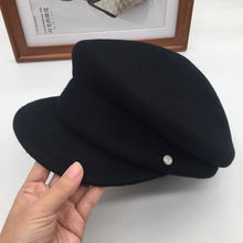 2017 шерсть бейсболка падение кисточкой ленты двойной м конный кепка женское шляпа
