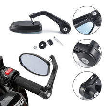 """Universal 7/8"""" Round Bar End Rear Mirrors Moto Motorcycle Motorbike Scooters Rearview Mirror Side View Mirrors FOR Cafe Racer"""