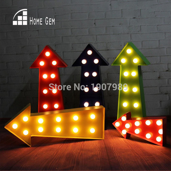 16.5 PLASTIC Arrow LED Marquee Sign LIGHT UP Vintage Marquee Light light Indoor Dorm lighting free shipping mini hashtag led marquee sign light up marquee light neon light indoor deration wall lamp free shipping