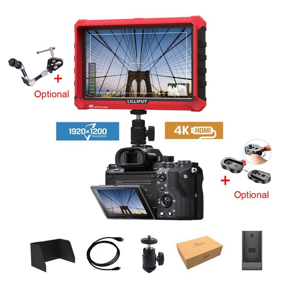 Lilliput A7S 7 Pouces Utra Mince IPS Full HD 1920x1200 4 K HDMI Sur-caméra Vidéo moniteur de terrain pour pour ZHIYUN Grue 2/DJI RONIN S