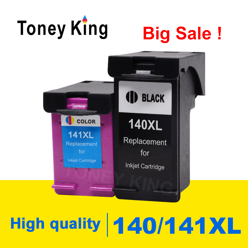 Toney King Ink Cartridge Compatible for <font><b>HP</b></font> <font><b>140</b></font> <font><b>141</b></font> XL for C4583 C4283 C4483 C5283 D5363 Deskjet D4263 D4363 C4480 Printer image