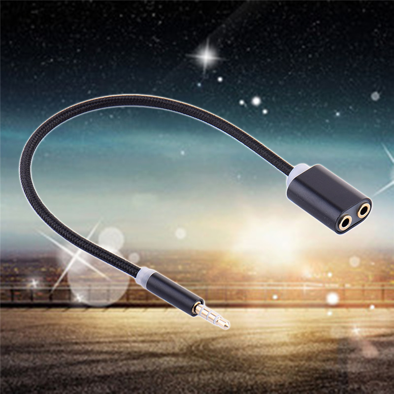 Newest 1 to 2 AUX Cable Male to Female Plug font b Audio b font Wire