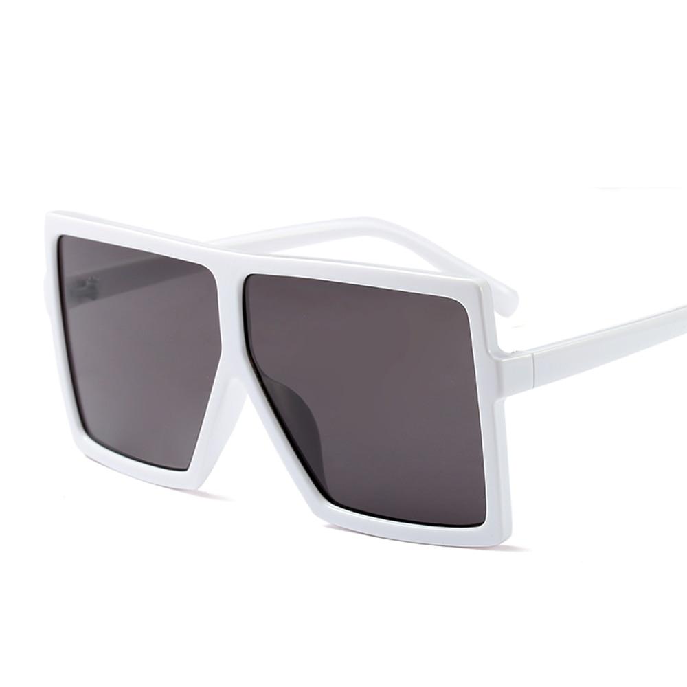 Peekaboo cheap oversized sunglasses women square flat top white black big  ladies sun glasses female 2018 uv400-in Sunglasses from Apparel Accessories  on ... 98ccb4ef2