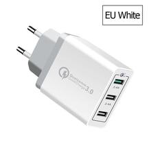 10 PCS 3 Ports Quick Charger QC 3.0 30W USB For iPhone 7 8 iPad Samsung S8 Huawei Xiaomi Fast QC3.0 EU/US Plug