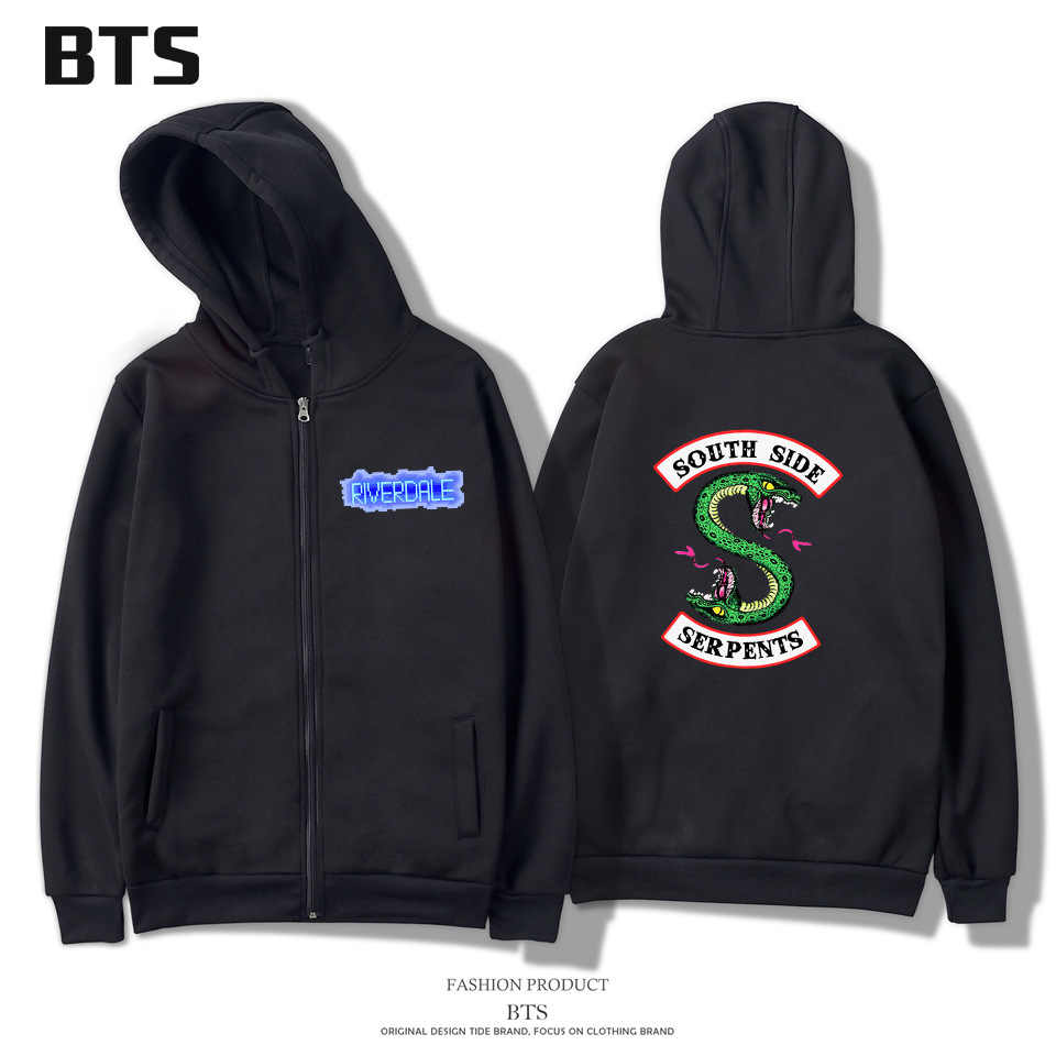Fashion Zip Up Hoodies Jackets for Women Cotton Clothing Riverdale South Side Fleeces Hoodies with Hood Sweatshirt Sweat Suit