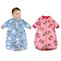Bebê recém-nascido Saco de Dormir de Lã Polar Roupas infantis sacos de dormir estilo Longo-sleeved Romper para 0-9 M CX