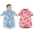 Newborn baby Sleeping Bag Polar Fleece infant Clothes style sleeping bags Long-sleeved Romper for 0-9M CX