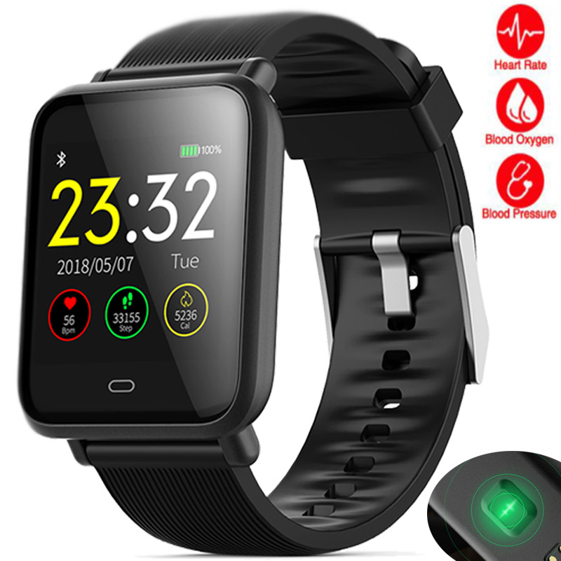 Sedentary Reminder Sport Stopwatch Blood Oxygen Monitor Smart Watch Men Calories Record Smartwatch for Android IOS Digital Watch interactive music smart watch men calories record sport stopwatch information reminder for android ios reloje smart watch hombre