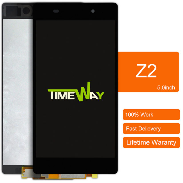 DHL 10 stks alibaba china highscreen clone Voor Sony Xperia Z2 L50w D6503 Lcd-scherm Met Touch Screen Digitizer Vergadering