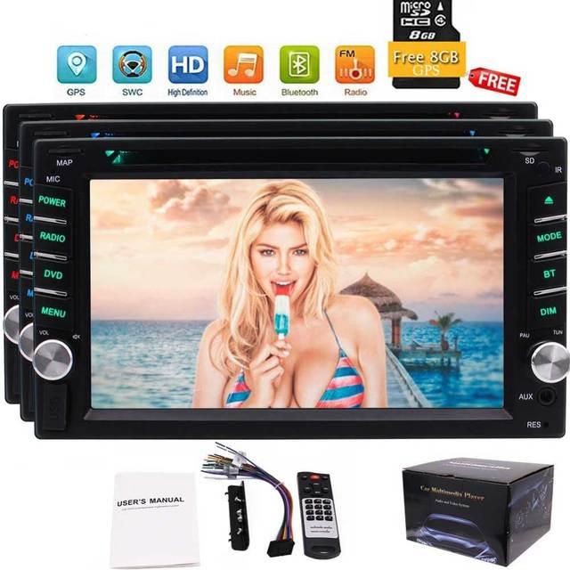 2 Din Autoradio Car Radio Stereo In Dash 6.2'' Headunit DVD Player Capacitive Touch Screen Auto Radio Bluetooth USB/SD FM/AM/RDS