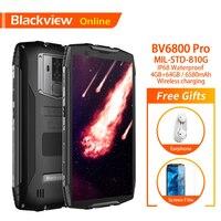 Blackview BV6800 Pro 5.7 inch Smartphone Waterproof Wireless Charging 4GB+64GB Dual SIM 18:9 6580mAh Battery 4G NFC Mobile Phone