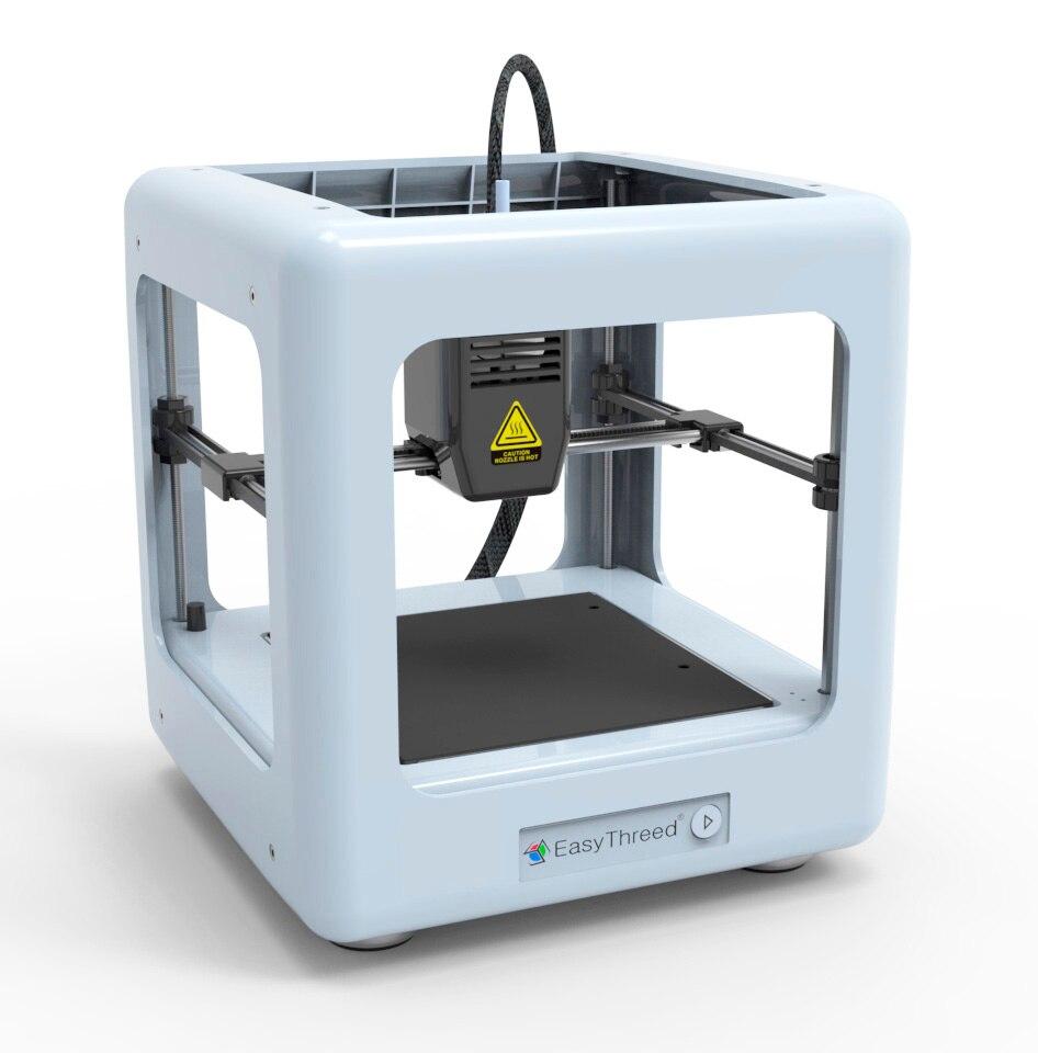 Imprimante 3D à cadre fermé entièrement en plastique easythree ed imprimante 3D avec Support à une clé et lit thermique amovible pour carte SD extrudeuse Titan