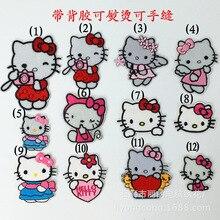 Различные котенок милый кот любовь ангел патч вышитая аппликация швейная нашивка одежда наклейки одежда аксессуары
