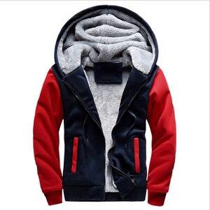 Image 3 - 2020 novos homens jaqueta de inverno grosso quente velo zíper jaqueta masculina casaco sportwear masculino streetwear jaqueta de inverno 4xl5xl