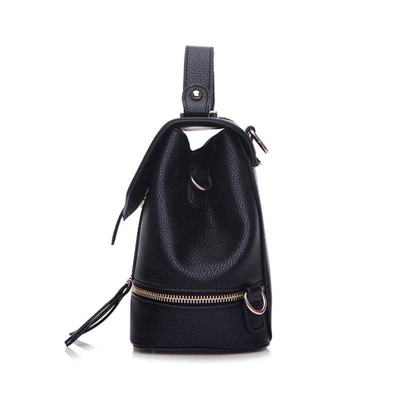 Ladsoul fashion women backpacks pu leather backpack for teenage school bags double shoulder bag women travel backpack bolsas