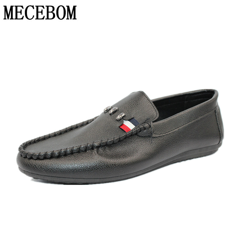 New fashion Brand men Casual shoe slip on Breathable pu flats Men Shoes hot sales Loafers size 39-44 A50M