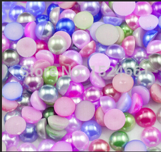 4 мм Смешанные Цвет бисера украшения набор бусин * оптовая продажа ремесла Рождественский имитация жемчуга