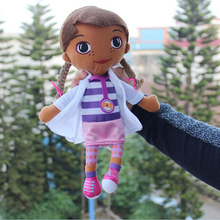 30cm Cartoon Doc McStuffins Plush Toys Lovely Girl McStuffins Stuffed Plush Toys Dollls Kids Gift Free Shipping(China)