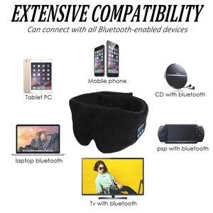 Image 3 - JINSERTA Wireless Stereo Bluetooth Earphone Sleep Mask Phone Headband Sleep Soft Earphones for Sleeping Eye Mask Music Headset