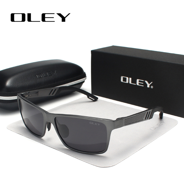 OLEY Men Polarized Sunglasses Aluminum Magnesium Sun Glasses Driving HD Glasses Rectangle For Men/Wome Oculos masculino Male