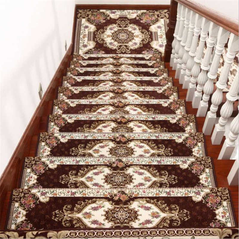 Beibehang 1 компл./13 шт. европейский коврики для лестницы High-end коврики клей-Бесплатная самоклеющаяся коврики для лестницы ковер из массива дерева Нескользящие коврики
