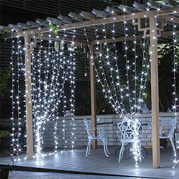 3x1/4x2/3x3m 300 LED Icicle fairy String Lights Christmas led Wedding Party Fairy Lights garland Outdoor Curtain Garden Decor