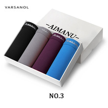 Varsanol Brand Mens Boxer Underwear Shorts Model Comfortable Sexy Underpants High Quality 4pcs/lot L-2XL No Gift Boxes Hot Sale