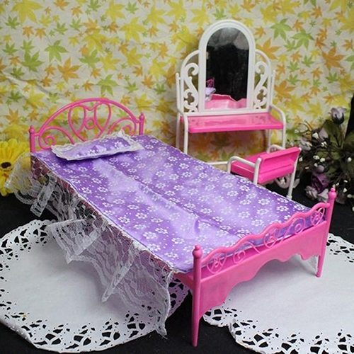bluelans plastic miniatures bedroom furniture single bed for barbie dolls dollhousechina mainland barbie bedroom furniture