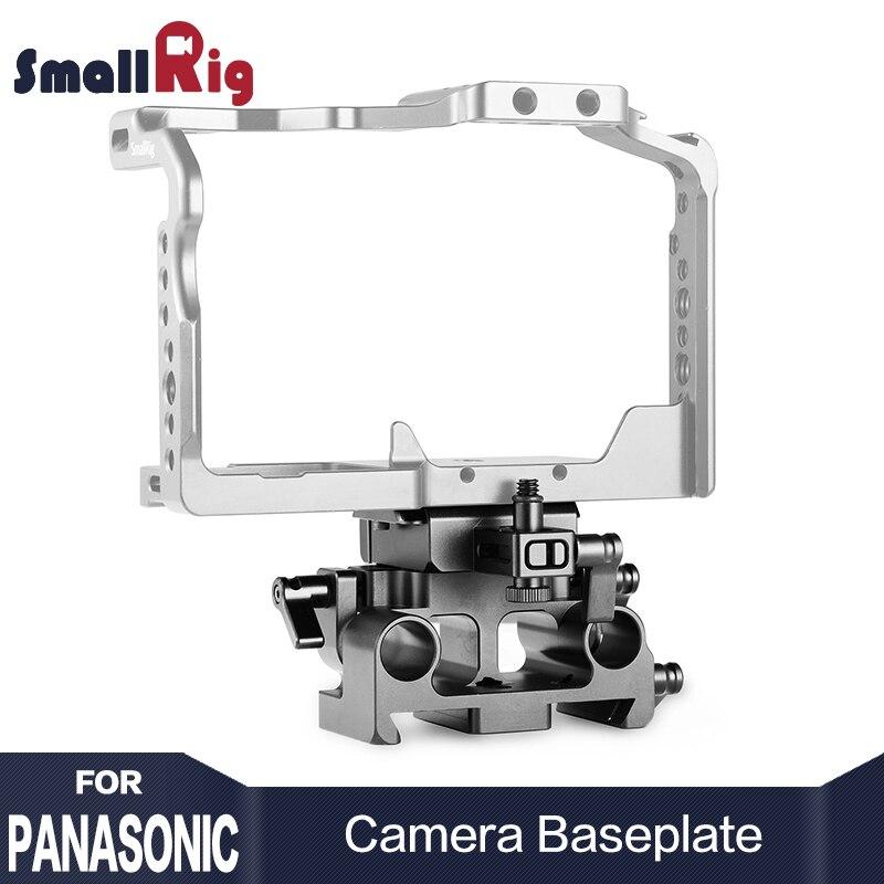 SmallRig Rapide Release Embase Kit pour Panasonic Lumix GH5/GH5S SamllRig Cage 2049 Avec Arri queue d'aronde rainure 15mm rail Pince